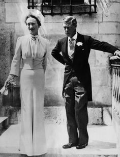 Wallis Simpson married Prince Edward, Duke of Windsor, 1937.  England was probably much better off without these two.