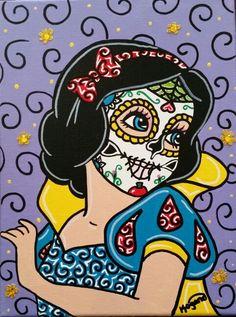 Sugar Skull Snow White ○Kitty OGane (My Art)