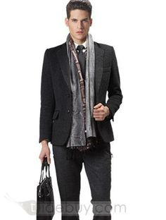 Skinny Fit 2 Button Suit In Wool (Two Piece Set) : Tidebuy.com