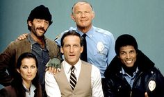 Hill Street Blues - (pictured) - (top row) Bruce Weitz, Michael Conrad (front row) Veronica Hamel, Daniel J. Travanti and Michael Warren.