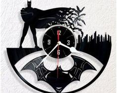 Reloj de pared de vinilo Batman por WoodenHMcraft en Etsy