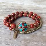 Grounding, root chakra, genuine Red Jasper 27 bead mala bracelet™ with – Lovepray jewelry