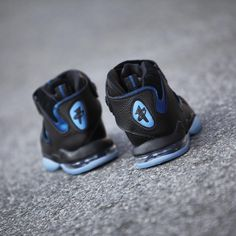 530cd90c3ad Nike Air Penny 4 Retro Black Blue 2017 Release Date (3) Release Date