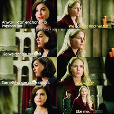 """Emma, Regina and Henry - 6 * 8 """"I'll be your mirror"""""""