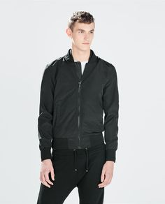 ZARA - MAN - JACKET WITH FAUX LEATHER COLLAR