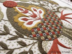 Tracy A Franklin - specialist embroiderer: Last few images of Crewel work Acorn