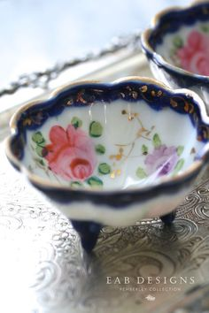 Antique Salt Cellars...so found a beautiful set of porcelain to add to my collection and found out what a salt cellar is.....turns out not what I was thinking at all LOL