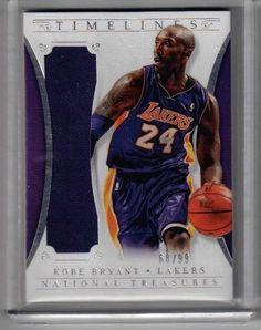 450c29695e0 2013 14 National Treasures Basketball Kobe Bryant Jumbo Relic Card  68 99  Lakers  LosAngelesLakers