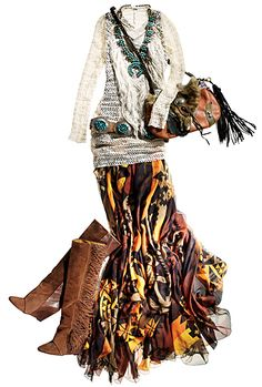 Santa Fe: New Trends and Tables : Condé Nast Traveler Boho Hippie, Bohemian Mode, Boho Gypsy, Cowgirl Chic, Western Chic, Western Wear, Cowgirl Style, 70s Outfits, Vintage Outfits