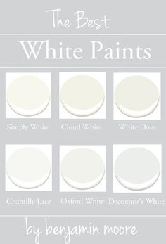 Choosing the right paint colour is hard when there's a million options! In today's post, I've narrowed down my 6 best white paints and included some good tips & tricks for getting white right!