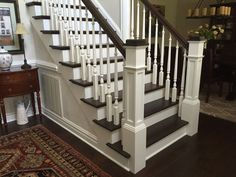 Box Newel Post Photo Galley by Westfire Stair Parts Craftsman Staircase, Exterior Stairs, Entryway Stairs, Basement Stairs, Stair Newel Post, Newel Posts, Stair Banister, Railings, Staircase Remodel