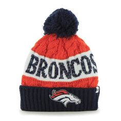 Denver Broncos  47 Brand Women s Swanson Cuff w Pom Knit Beanie – Orange  Broncos e35c5ec48