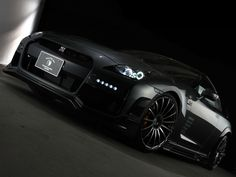 Nissan Skyline GTR R35, all black everything<3