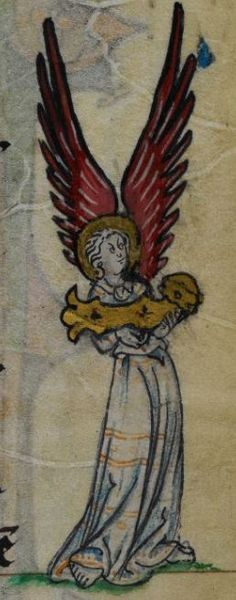 Detail from medieval manuscript, British Library Stowe MS 17 'The Maastricht Hours' f22v