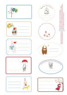 #Free printable labels, tags. Beautiful! Lineanongrata: