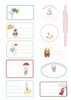 Free printable labels, tags. Beautiful! Lineanongrata: