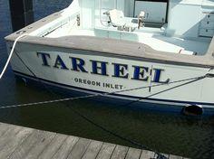#TRANSOM: Tarheel, Oregon Inlet #Boat #Transom #BoatTransom  TRANSOM #TECHNIQUE: #CustomBoatLettering    #BOAT #BUILDER #BoatBuilder: #ScarboroughBoatworks, #Wanchese, #NorthCarolina