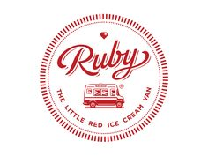 Branding Identity Ruby... The Little Red Ice Cream Van. Restored vintage UK ice cream van ready to grace social and corporate events with her retro sweetness and rocking desserts  http://www.rubyic...