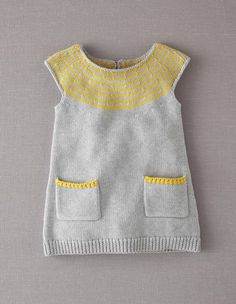 Baby Knitting Patterns Clothes Knit dress 71258 Knitwear at floor Knitting For Kids, Baby Knitting Patterns, Free Knitting, Knitting Projects, Toddler Outfits, Kids Outfits, Crochet Baby, Knit Crochet, Knitted Baby