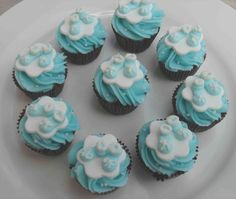 Baby Blue | Baby Shower / Christening Cupcakes | Pinterest
