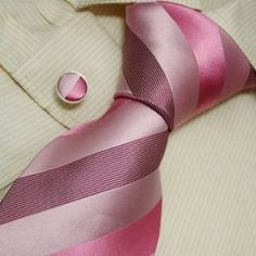 01948a307baf NEW Designer Pink Stripes Neck Tie Cufflinks with Presentation Box Hot Pink  Ties for Men Black Jacquard Woven Silk Mens Neck Tie and Cuff Links Gift Set