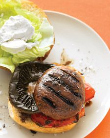 Balsamic portabella burger TO DIE FOR!  One of my favorites when I was in my vegetarian phase!  Still a crowd pleaser!