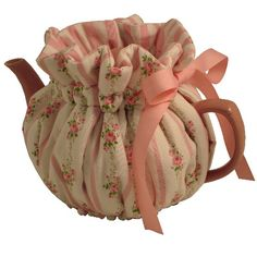 Victorian Pink Tea Cozy...In felt instead.  Tea Cozy option #1.