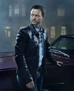 Gary Sinise by Jim Wright...why do some people look so fantastic in leather?