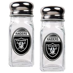 Oakland Raiders Salt and Pepper Shakers