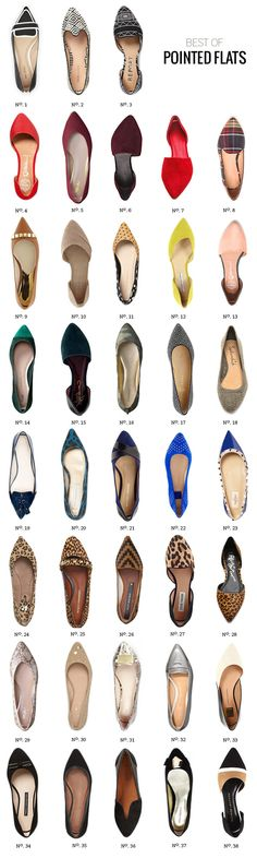 Heres one of the Spring 14 Trends, pointed flats! // Best Of: Pointed Flats for Fall by Modern Eve