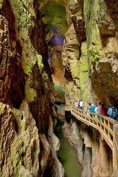 Underground caves of Jiuxiang Diehong, China