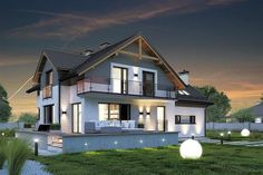 Zdjęcie projektu Jupiter V Bis Family House Plans, Dream House Plans, My Dream Home, Philippines House Design, Small Villa, Philippine Houses, House Outside Design, Self Build Houses, Modern Villa Design