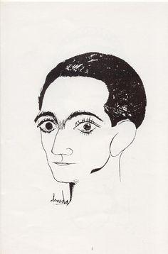 Auto-retrato,1921. Lápis,papel. José de Almada Negreiros.