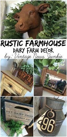 Rustic farmhouse dairy farm decor by @Candace @ Vintage News Junkie