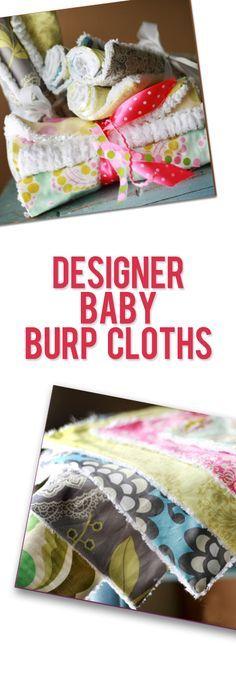 Designer Baby Burp Cloths