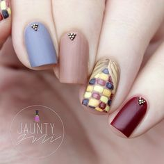 Autumn Nails With Thanksgiving Inspired Corn Nail Art