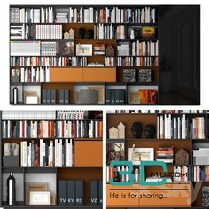 cool 133. Bookcase model Download here: http://3dmili.com/decoration/decorative-set/133-bookcase-model.html