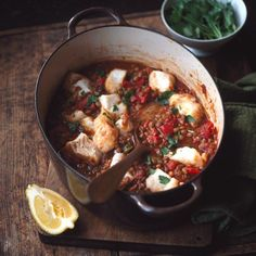 Cod with smoky tomato lentils - Good Housekeeping