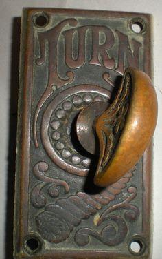 Antique door lock
