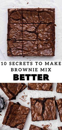 These are the only 10 hacks you need to make boxed brownies taste better, or should I say taste like they're straight out of a bakery. This doctored up brownie mix recipes yields a dense and fudgy brownie with intense chocolate flavors. When I first spruced up boxed brownies I was shocked ,but now these have became the best ever brwonies from a box that we make at home. Perfect lazy girl brownie recipe! #boxedbrownie #browniemix Boxed Brownie Recipes, Boxed Brownies, Homemade Brownies, Best Brownies, Best Brownie Mix, Brownie In A Mug, Yummy Treats, Delicious Desserts, Dessert Recipes