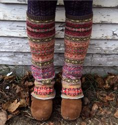 Gotta love legwarmers!  These are made from an old sweater