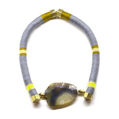 Huk Rumi Necklace Gray, $100, now featured on Fab.