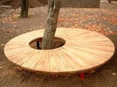 Image result for bench around tree