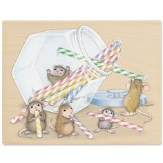 Want Candy NOW! House-Mouse Rubber Stamp