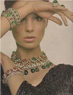 Bracelet. Ring. Necklace. Ruby. Emerald. Diamond. Vintage. Jennifer O'Neill