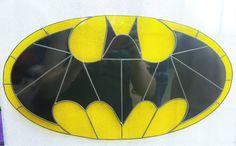 Batman Fan-Made Stained Glass Suncatcher by wistfulfancy on Etsy                                                                                                                                                                                 More