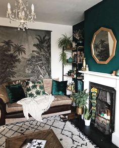 New living room furniture decor ideas interior design ideas Living Room Green, Living Room Paint, Rooms Home Decor, Trendy Living Rooms, Apartment Decor, Minimalist Home Decor, Interior Design, Living Decor, Rugs In Living Room