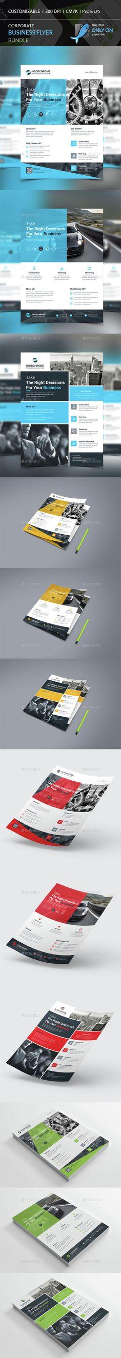 Flyer Bundle - Corporate Flyers   Download http://graphicriver.net/item/flyer-bundle/15350071?ref=sinzo