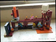 47.89$  Watch now - http://alixod.worldwells.pw/go.php?t=32715499149 - minecrafted Underground Fortress Alex Steve Ghast Sword Pickax Building Blocks Kids Educational Bricks Toys legeod brinquedos 47.89$