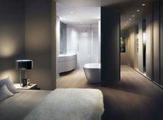 slaapkamer met badkamer en inloopkast - Google Search